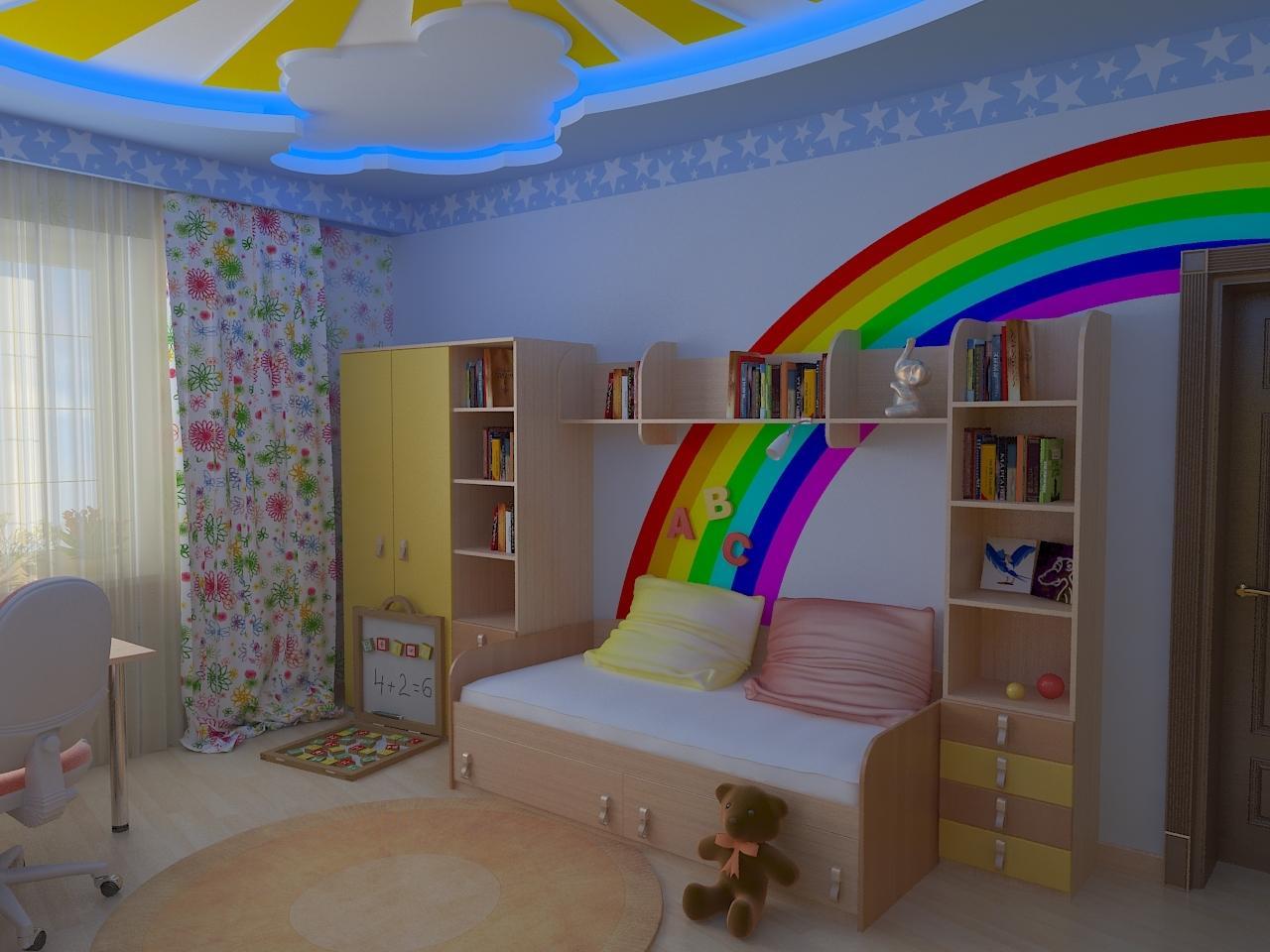 Идеи для ремонта детской комнаты своими руками 96