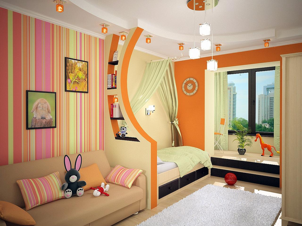 Детская комната для двоих детей: варианты планировки и фото 56
