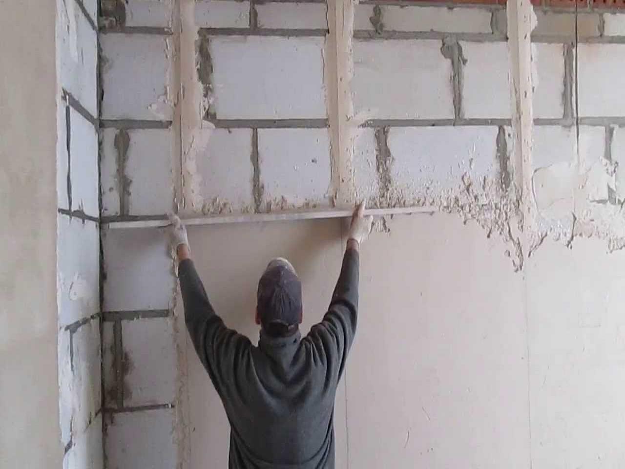 Выравнивание стен по маякам: учимся выставлять маяки под 30